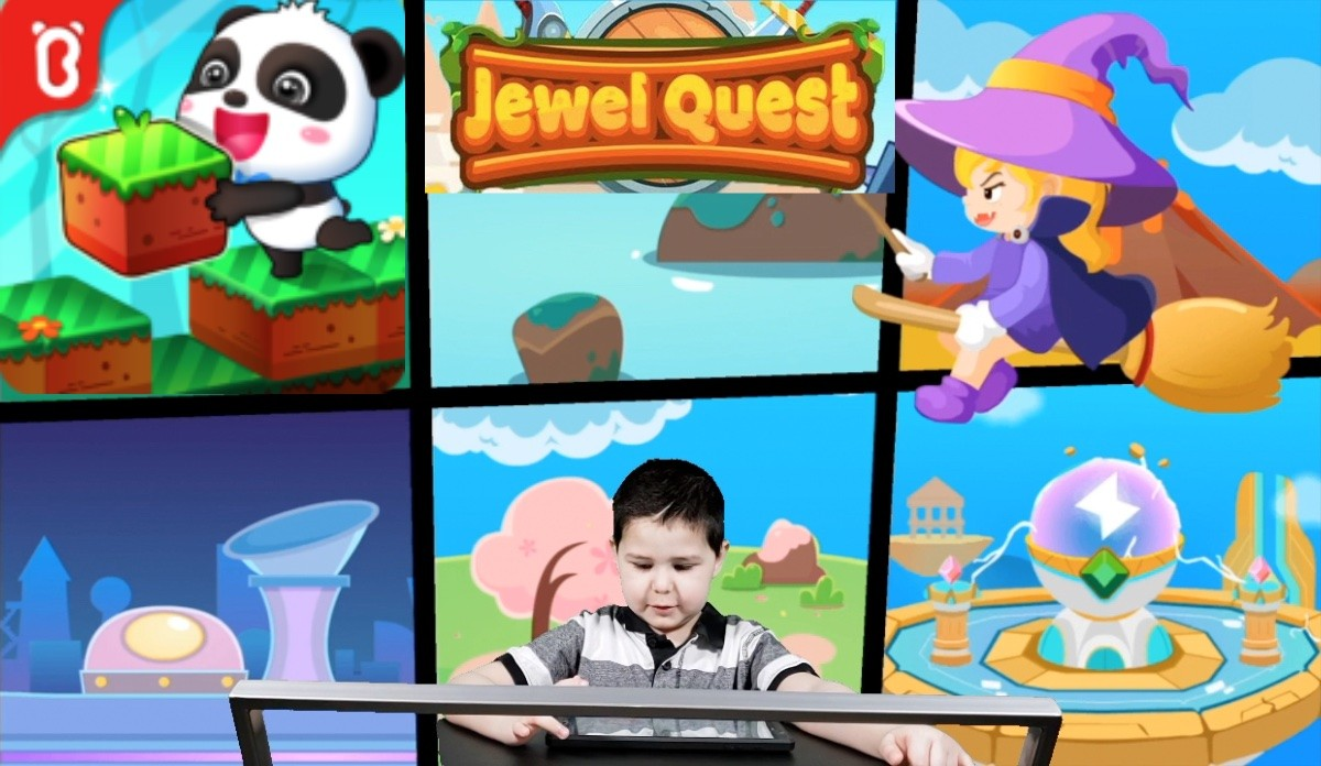 Little Panda's Jewel Quest: Baby Panda Defeat The Evil Witch