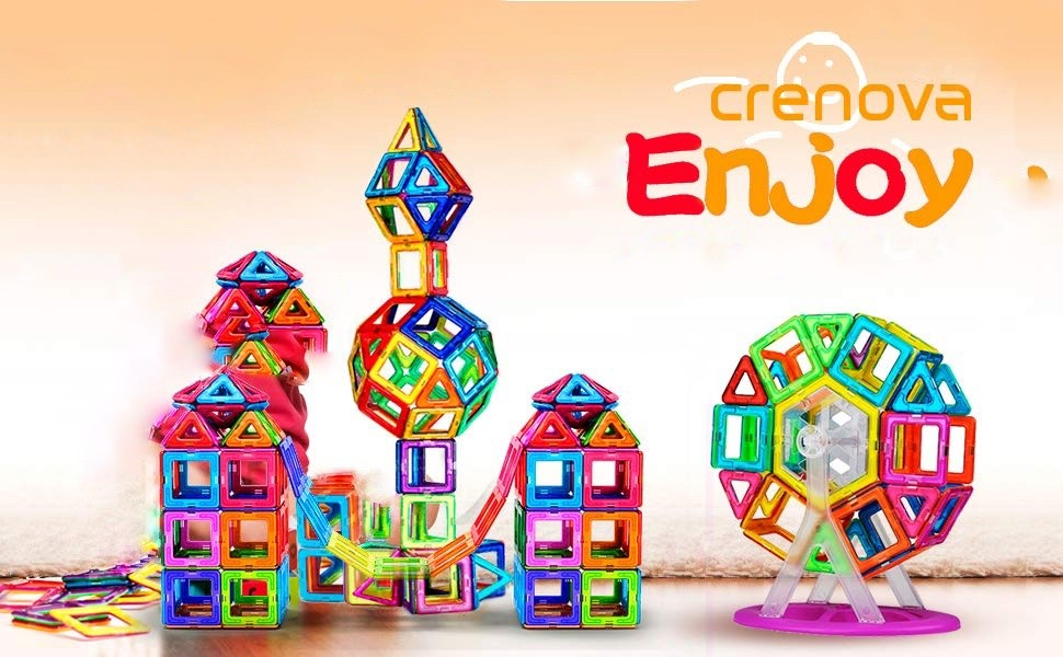 Crenova Rainbow Magnetic Building Blocks